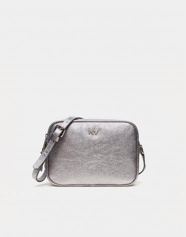 Silver leather Taylor shoulder bag