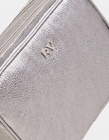 Silver leather Taylor shoulder bag