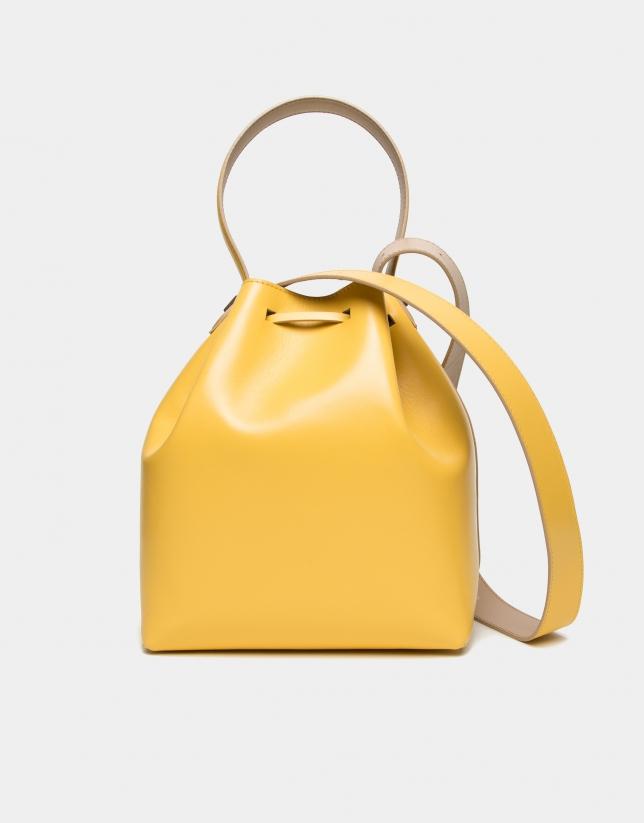 Bolso Bouquet piel amarillo