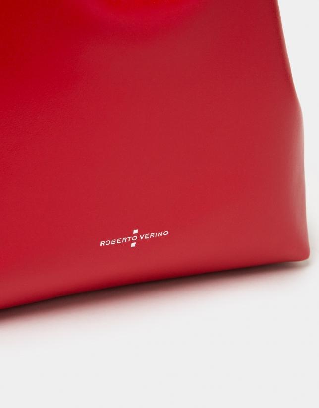 Bolso Bouquet piel rojo