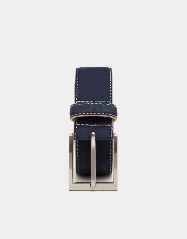 Cinturón ante marino pespunte lino