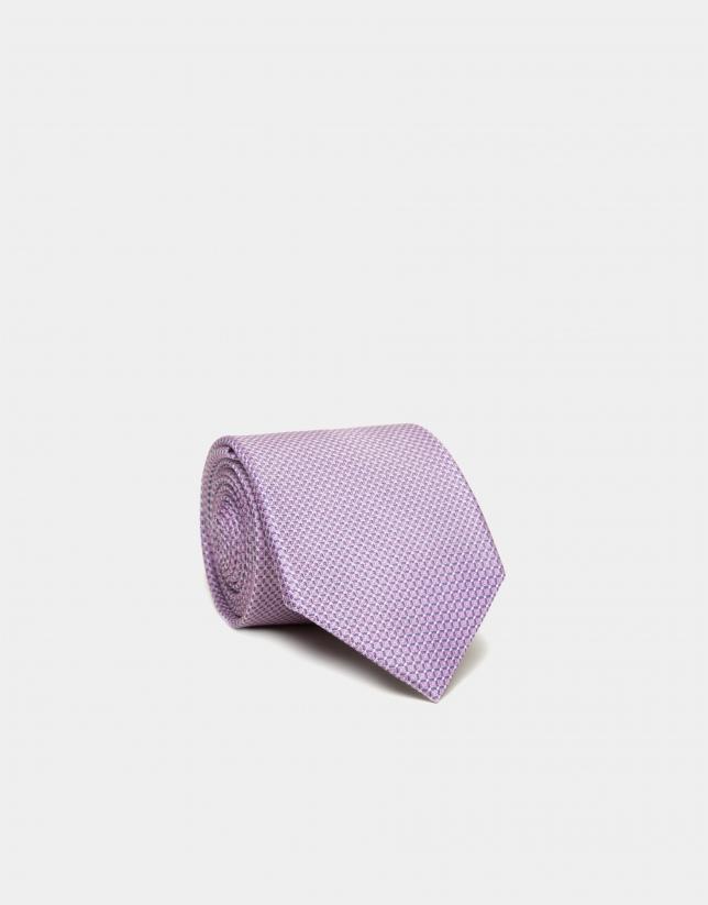 Pink structured silk tie