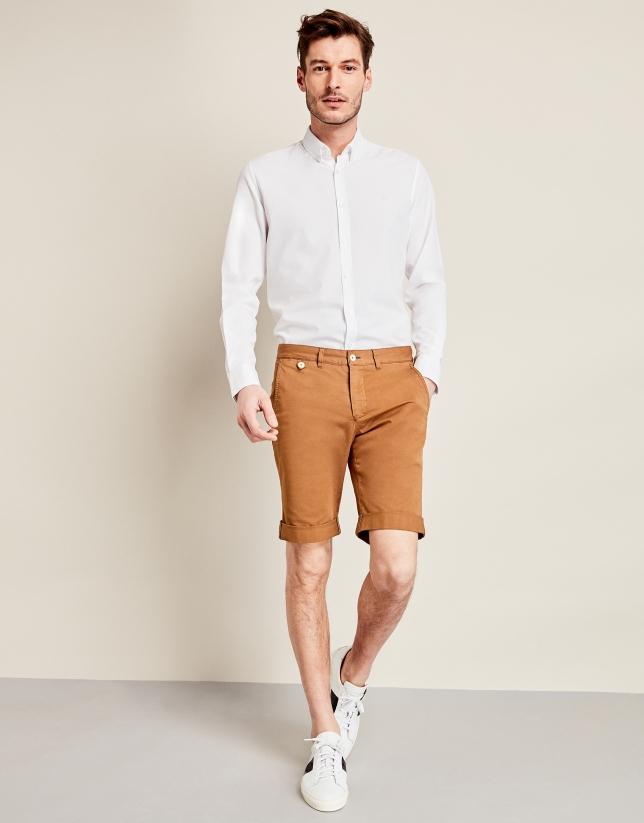 Bermuda en coton beige