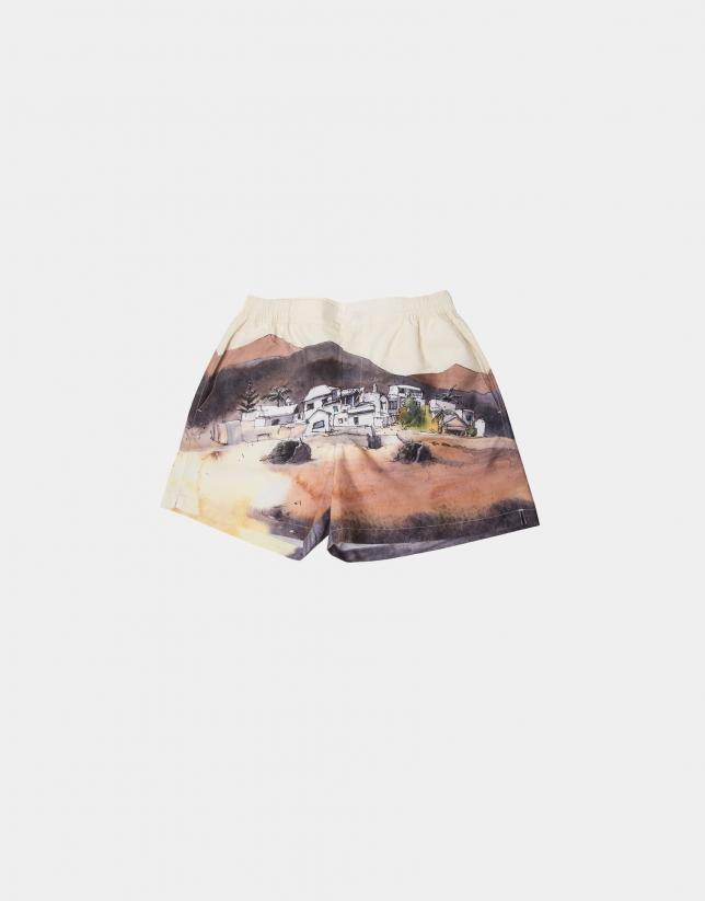 Yellow print Lanzarote bathing suit