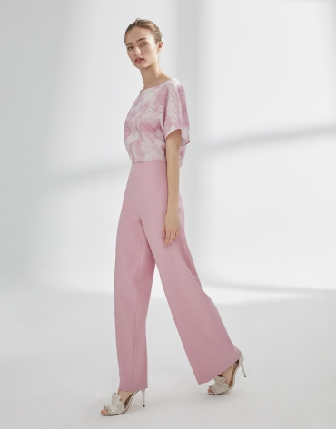 Pink straight pants