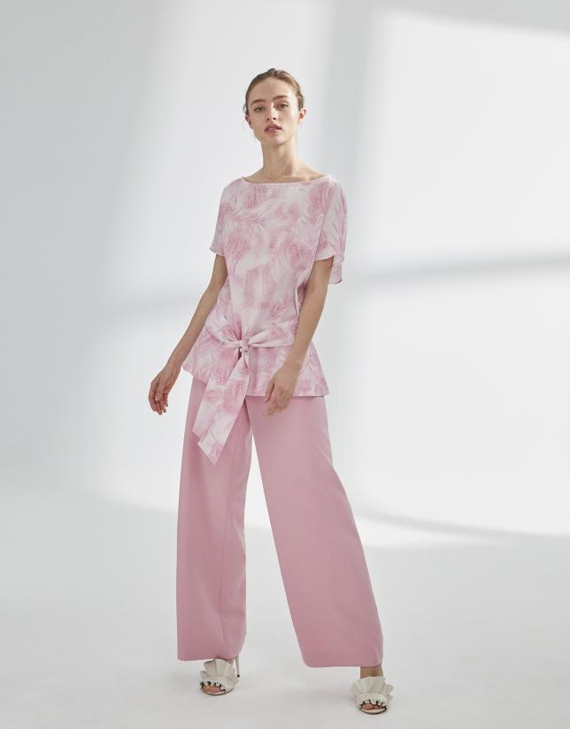 Blusón oversize rosa