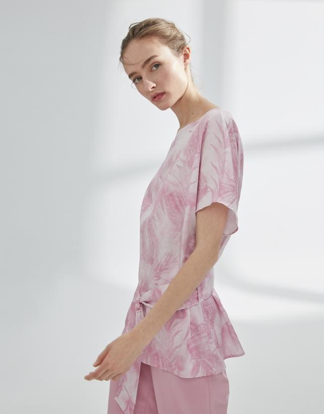 Sarreau surdimensionné rose