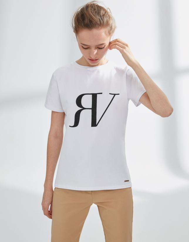 Camiseta blanca logo RV