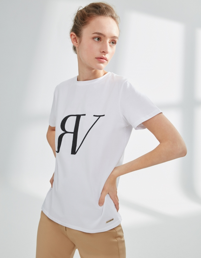 White top with RV logo