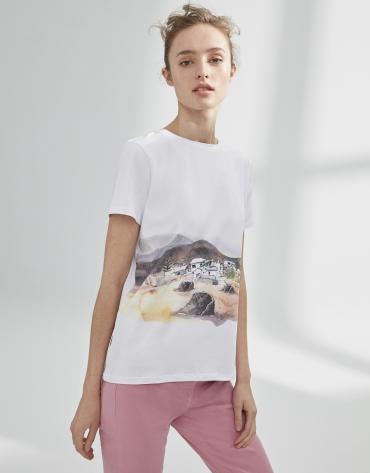 White top with landscape design