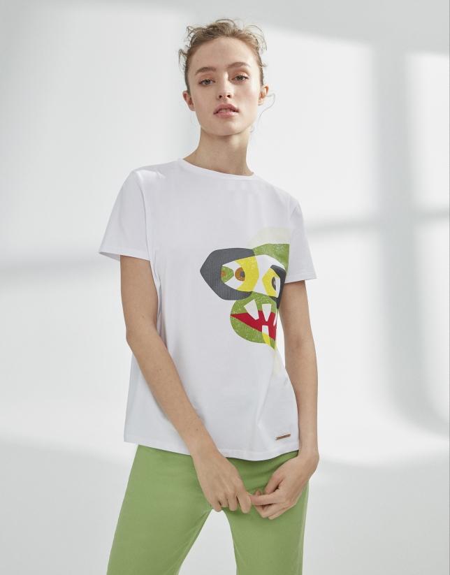 Camiseta blanca pez