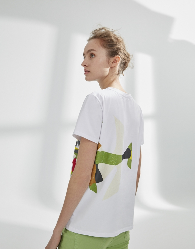White top with fish design