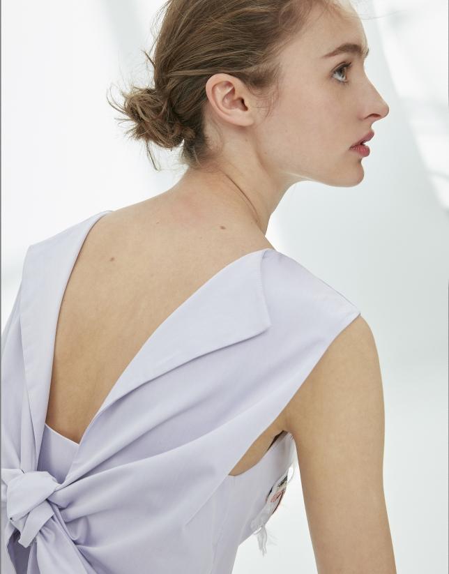 Vestido lazada en espalda malva