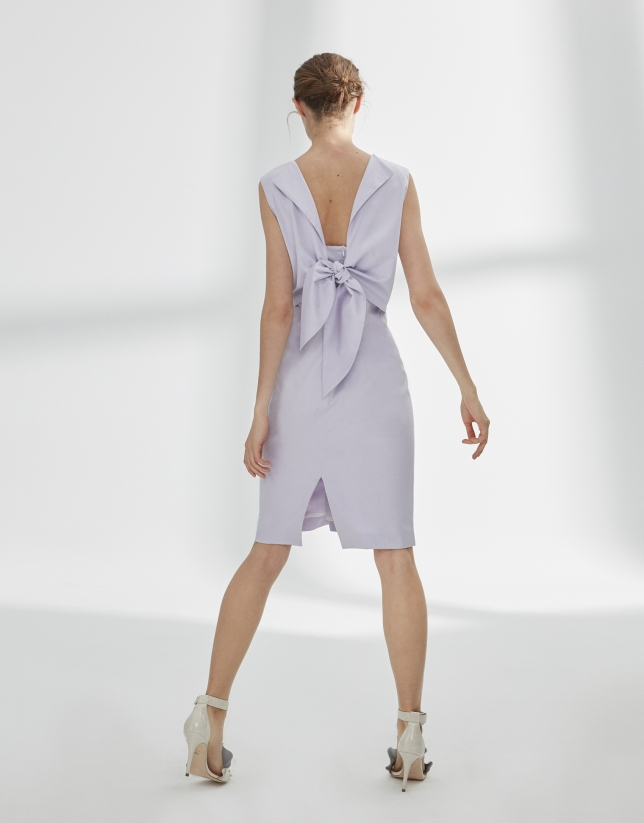 Mauve dress with bow in back