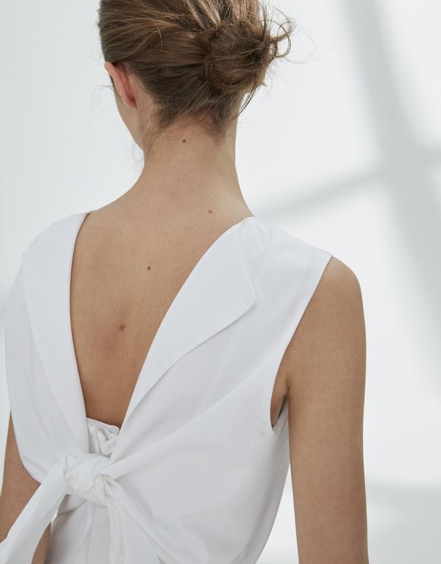 Vestido lazada en espalda blanco