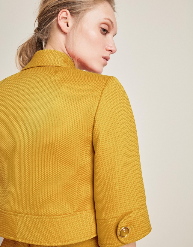 Yellow bolero jacket