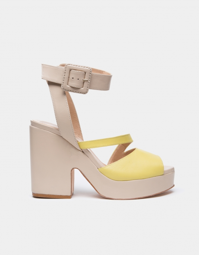 Ivory leather Vague sandals