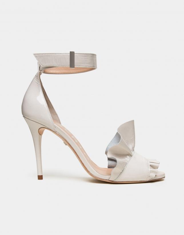 Sandale Aqua en cuir couleur glace
