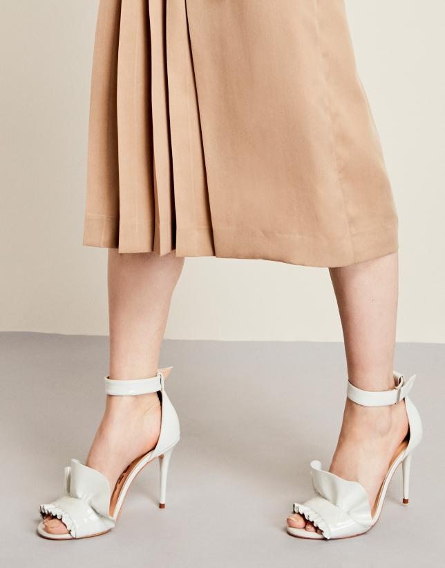 Ivory leather Aqua sandals