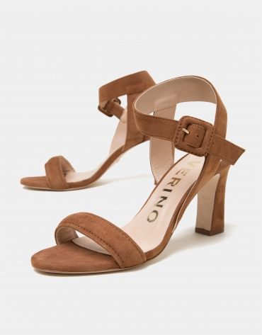 Brown napa split leather Kharan sandals