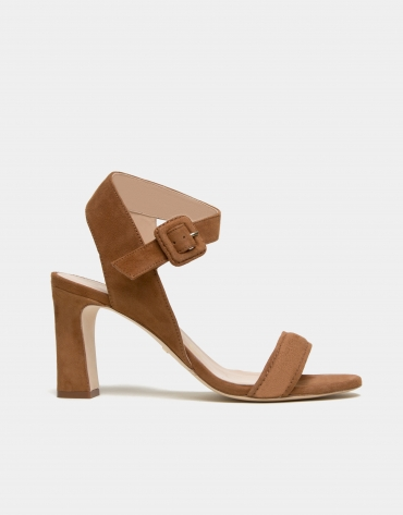 Brown napa split leather Kharan sandals