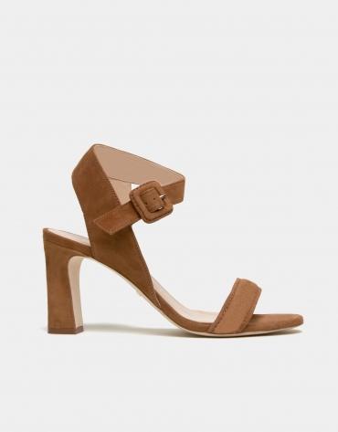 Sandale Duna en croûte de cuir marron
