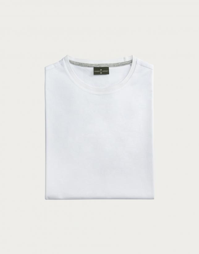 T-shirt basique blanc en coton