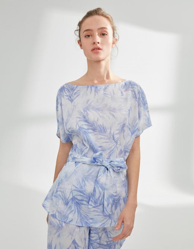 Blusón oversize azul