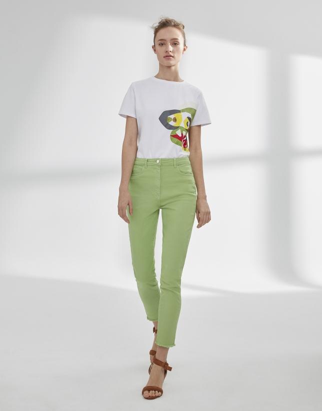 Pantalón vaquero verde