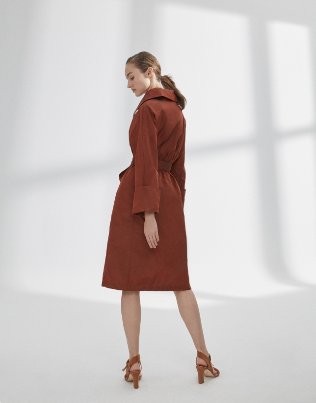 Boiler orange raincoat