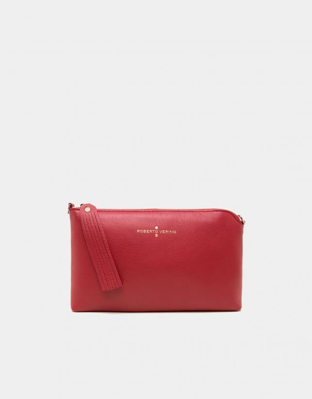 Red leather Lisa nano Clutch