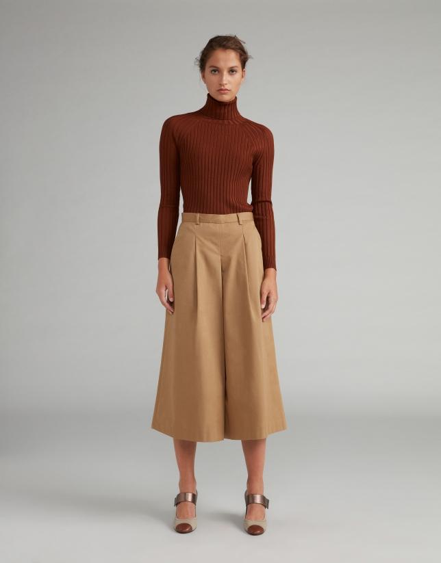Falda pantalón cámel