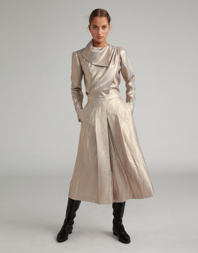 Nacre, metalized-effect culottes