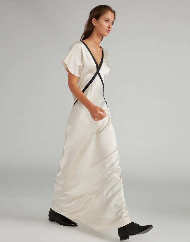Vestido largo lencero blanco