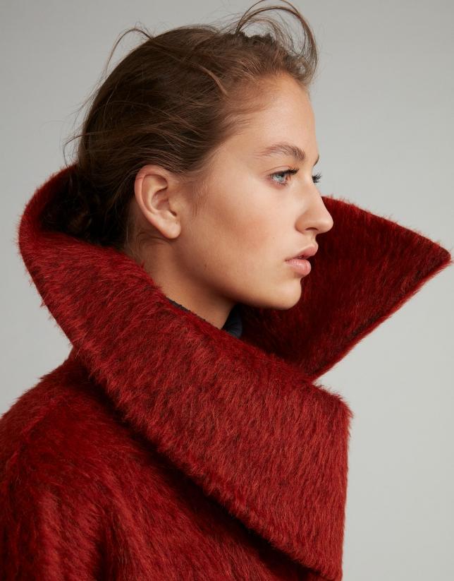 Manteau feutré couleur rouille