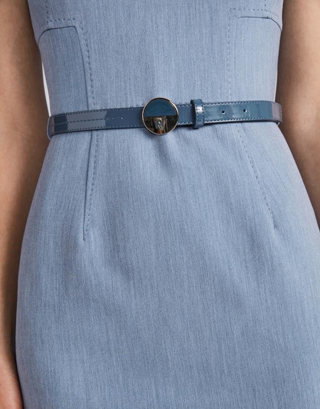 Light blue sleeveless dress