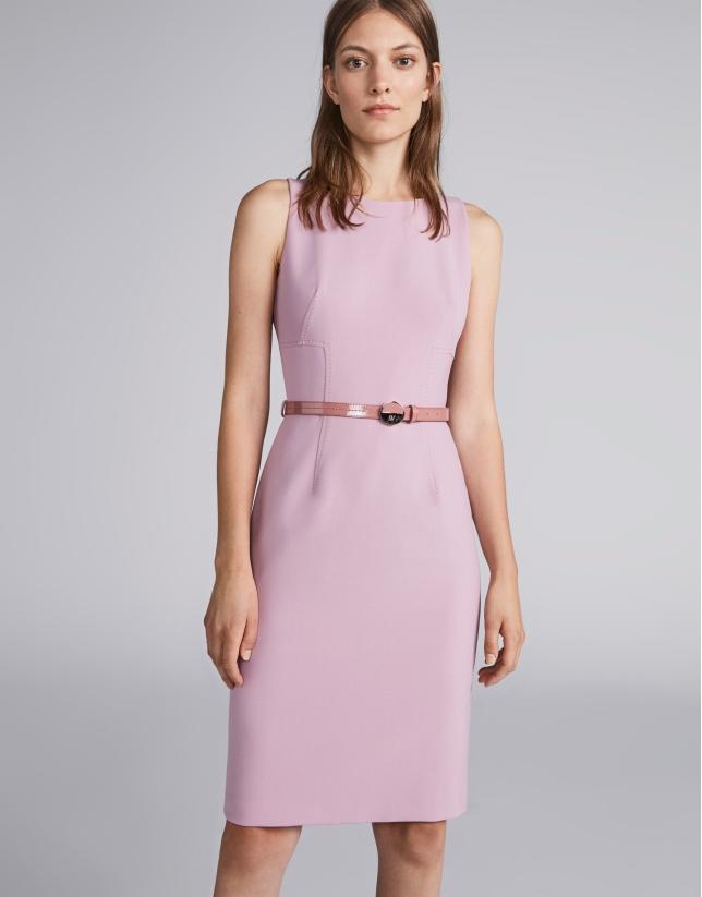 Vestido sin mangas rosa