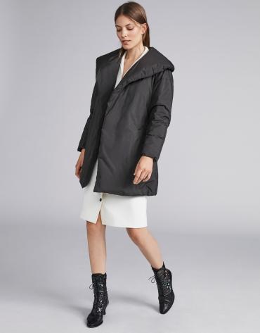 Black oversize ski jacket