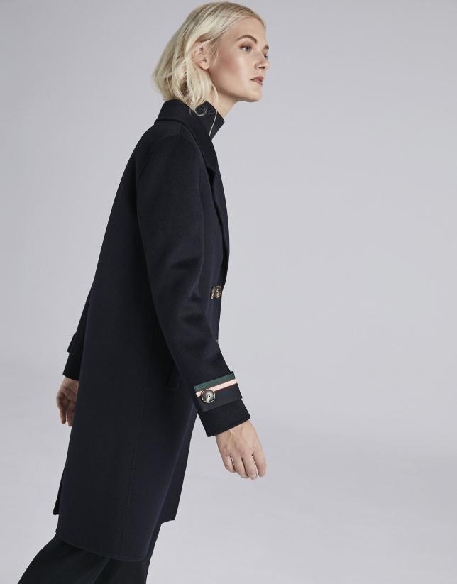Abrigo marinero lana azul