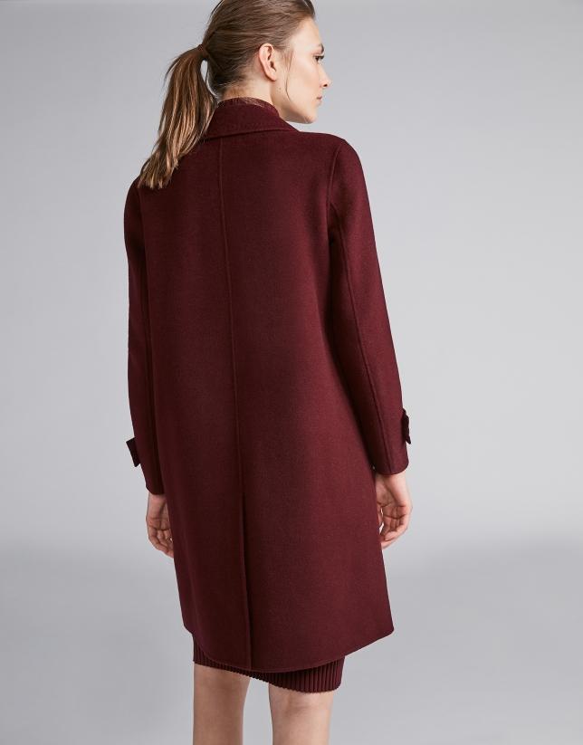 Burgundy sailor coat