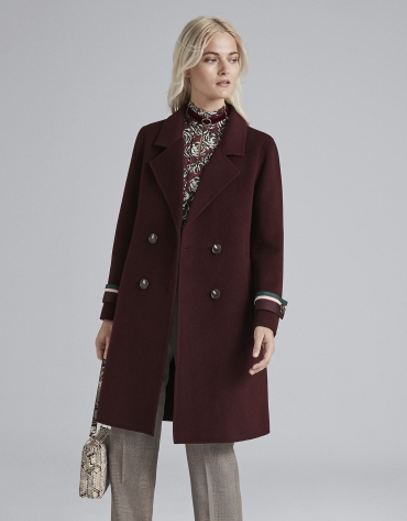 Burgundy sailor coat