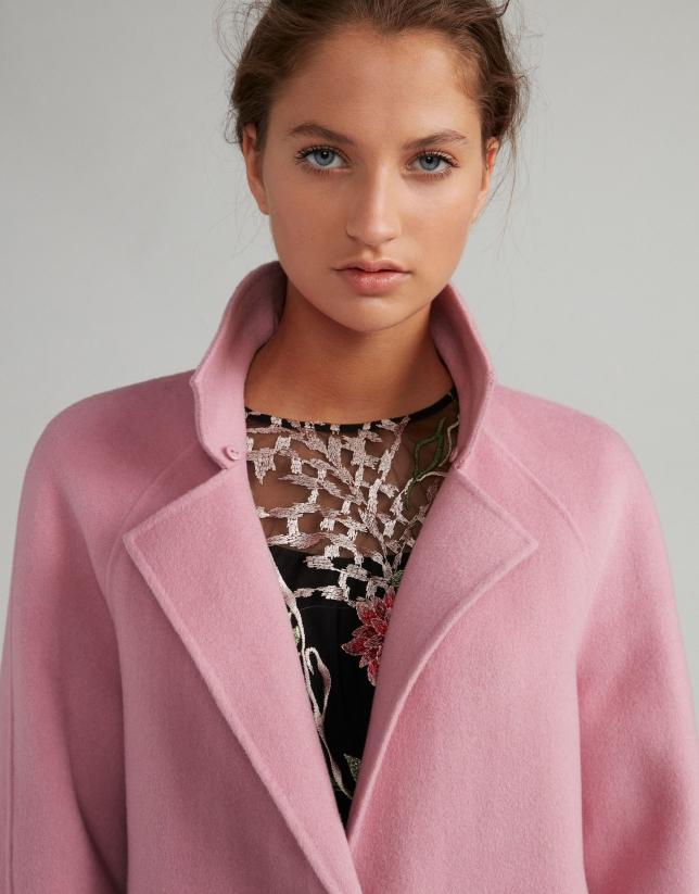 disfruta el precio más bajo el precio más baratas Amazonas Abrigo de paño rosa cuello pelo - Mujer | Roberto Verino