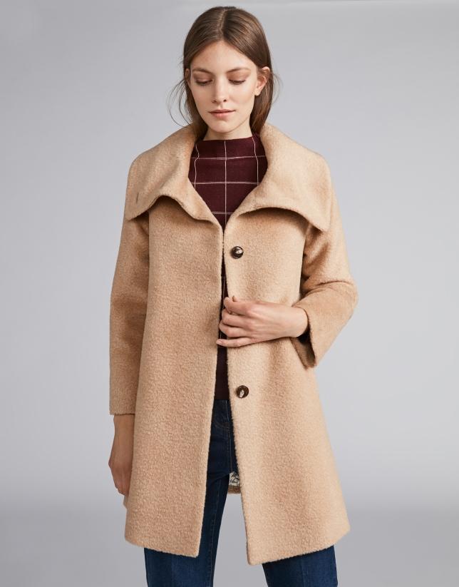Manteau feutré beige