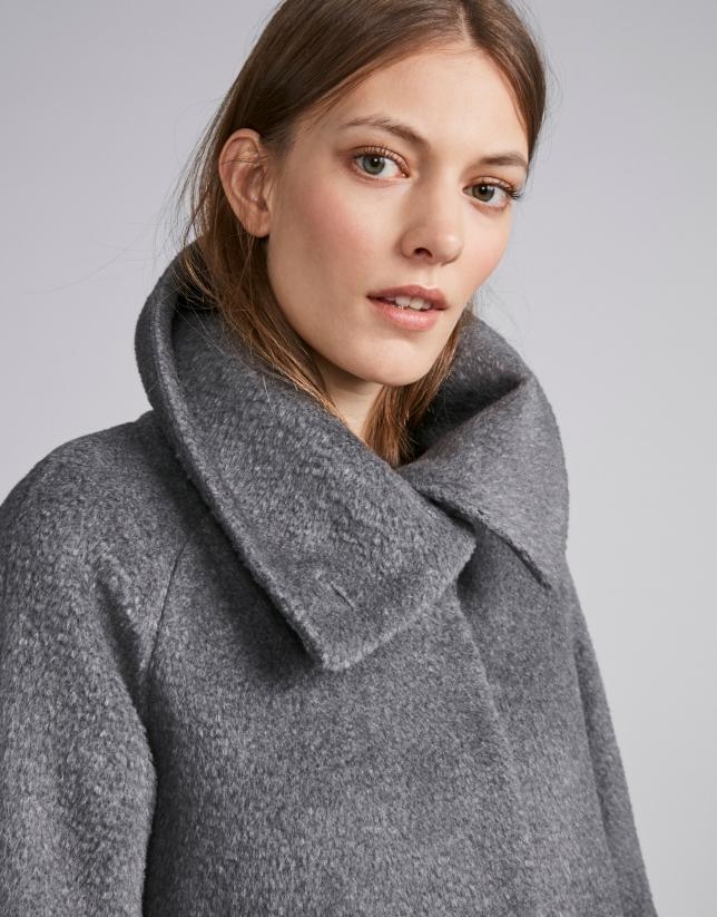 Gray cloth coat