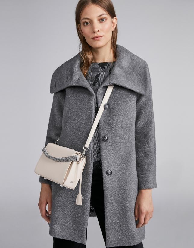 Manteau feutré gris