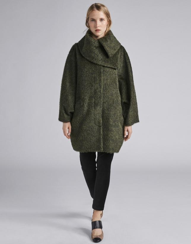 Manteau feutré couleur vert