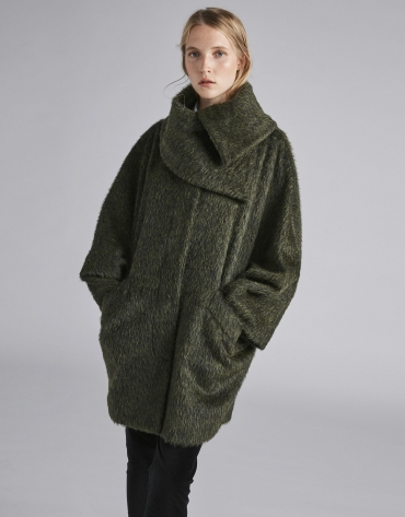 Green cloth coat