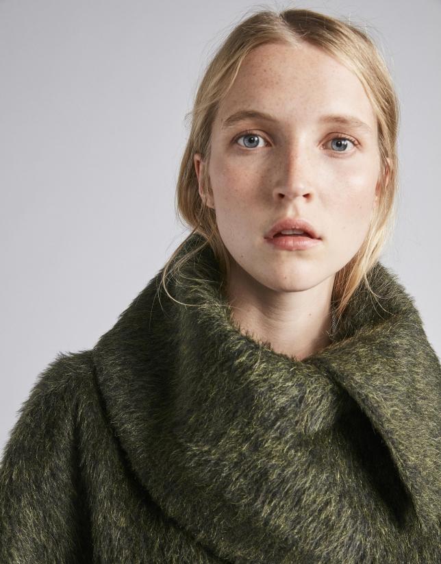Green cloth coat