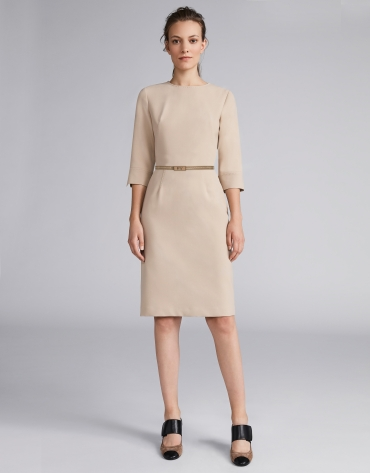 Hazel midi dress with belt