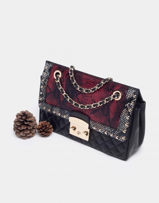 Red snakeskin Ghauri shoulder bag
